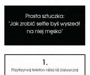 Męskie selfie