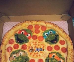 Pizza dla fana Żółwi Ninja