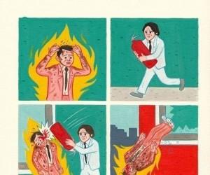 Jak ugasić płonącego człowieka...
