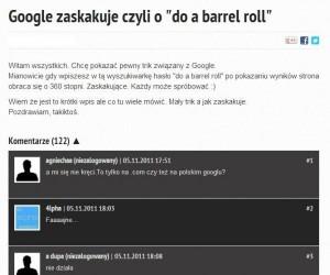 Fajny trik z Google