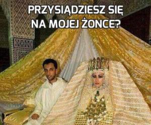 Przysiądziesz się na mojej żonce?