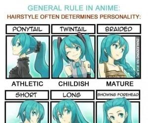 Zasada fryzur w anime