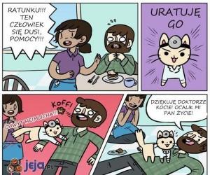 Doktor Kot służy pomocą