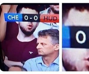 Biedny, meczu nie widzi
