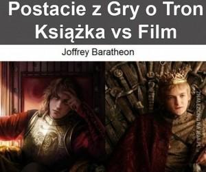Postacie z Gry o Tron: Książka vs film