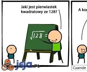 Pierwiastek kwadratowy ze 128