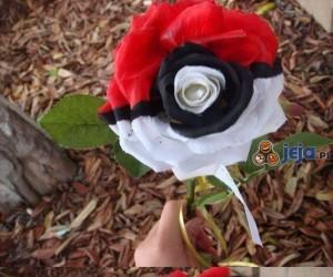 Kwiat w kształcie Pokeballa