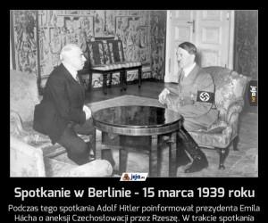 Spotkanie w Berlinie - 15 marca 1939 roku