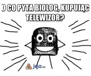 Biolog kupuje telewizor