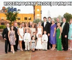 Rodzina panny młodej i pana młodego