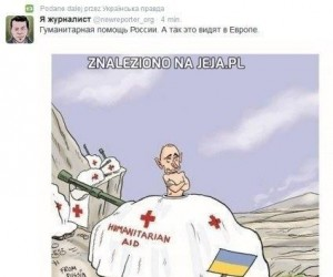 Rosyjski konwój z pomocą humanitarną jedzie w kierunku Ukrainy