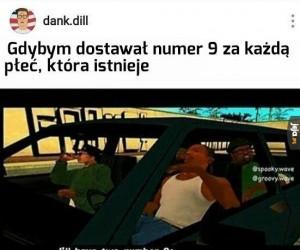 Numer 9 za każdą płeć