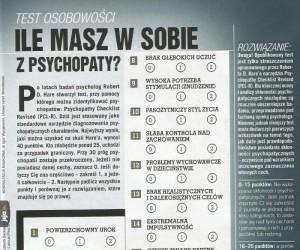 Ile masz w sobie z psychopaty?