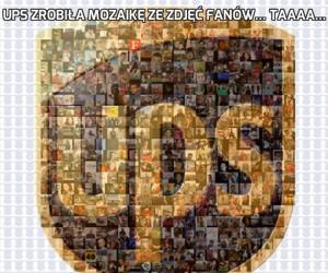 UPS zrobiła mozaikę ze zdjęć fanów... Taaaa...