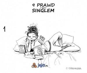 9 prawd o byciu singlem