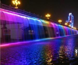 Tęczowa fontanna