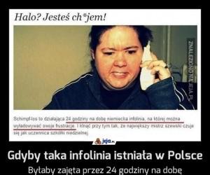 Gdyby taka infolinia istniała w Polsce