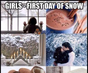Pierwszy śnieg - Dziewczyny vs Chłopaki