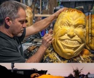Tak rzeźbi w dyniach prawdziwy artysta