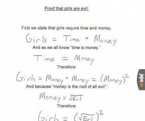 Dowód na to, że dziewczyny są złe