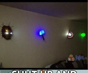 Nocne lampki w stylu Avengers