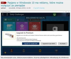 Windows 10 i reklamy