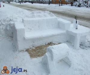 Śnieżne meble