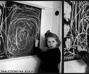 """Dziewczynka, która dorastała w obozie koncentracyjnym rysuje """"dom"""""""