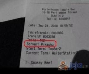 Kelner Pikachu
