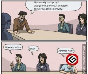 Grammar Nazi już dziękujemy