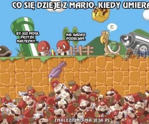 Co się dzieje z Mario, kiedy umiera