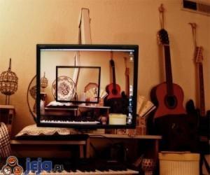 Przezroczysty monitor