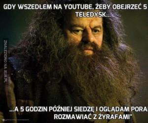 Gdy wszedłem na YouTube, żeby obejrzeć 5 minutowy teledysk...