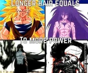 Im dłuższe włosy, tym silniejszy bohater? NOPE.