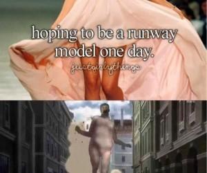 Modelka na wybiegu
