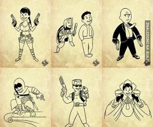 Fallout'owe wersje postaci z gier