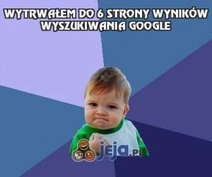 Wytrwałem do 6 strony wyników wyszukiwania Google
