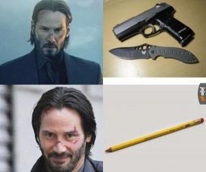 Na co komu pistolet, skoro mam ołówek?