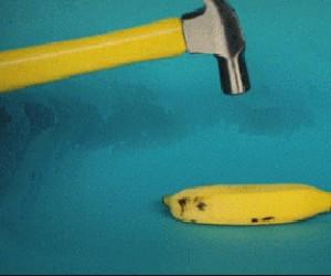 Banan i młotek