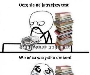 Gdy uczyłem się na egzamin