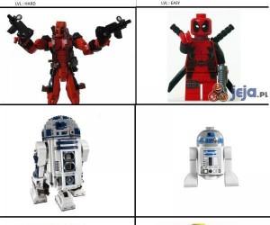 Postaci z Lego w dwóch wersjach