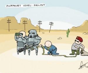 Kieszonkowiec poziom: Fallout