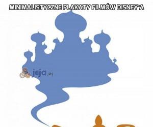 Minimalistyczne plakaty filmów Disney'a