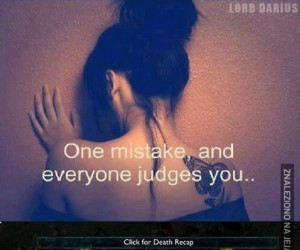 Jeden błąd...