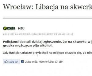 Wrocław: Libacja na skwerku