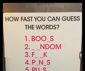 Jak szybko odgadniesz wszystkie słowa?
