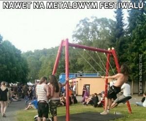 Nawet na metalowym festiwalu
