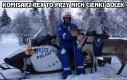 Szwedzki policjant i jego służbowy renifer