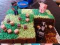 Minecraftowe ciasto