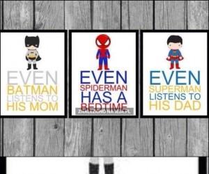 Nawet Batman słucha swojej mamy